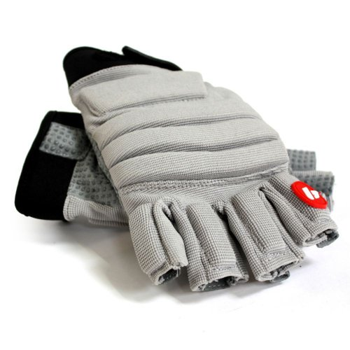 Barnett FLGC-02 New Fit Short Finger Linemen Football Gloves, OL, DL, Grey, (L)