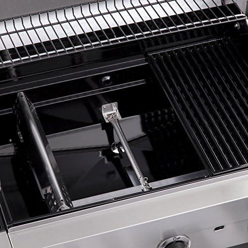 Char-Broil Convective Series 440S -- Barbecue à gaz à 4 brûleurs avec brûleur latéral, finition en acier inoxydable.