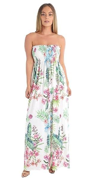 Rewatronics - Vestido - sujetador bandeau - Sin mangas - para mujer verde Hoja Verde Talla única: Amazon.es: Ropa y accesorios