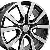 vw rims 18 - 18x7.5 Wheel Fits Volkswagen - VW Golf Style Black Rim w/Mach'd Face, Hollander 69943