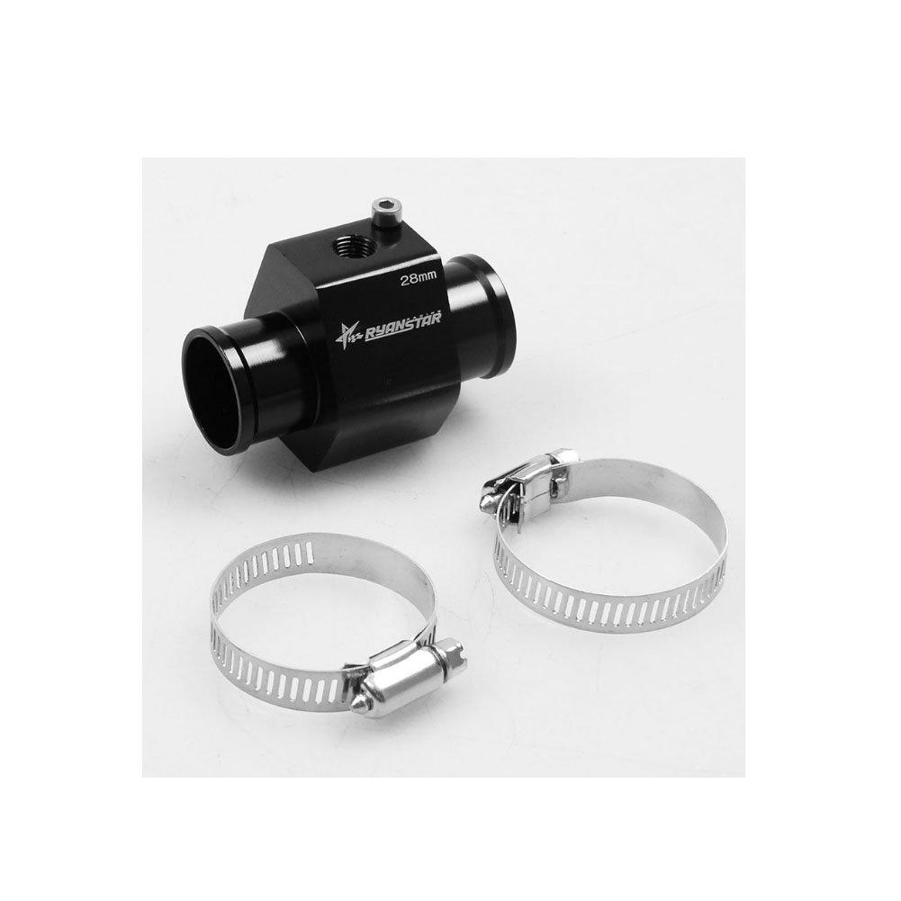 34mm Aluminum Black Water Temp Meter Temperature Gauge Joint Pipe Radiator Sensor Adaptor