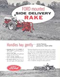 1956 Ford Side Delivery Rake Ford 850 Tractor Brochure