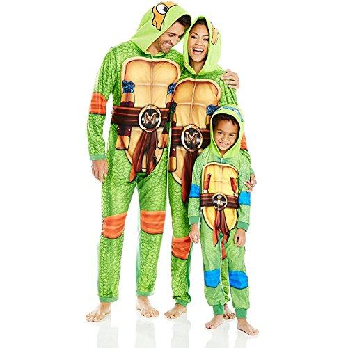 Nickelodeon Little Boys' Toddler Ninja Turtles Uniform Union Suit, Green, (Toddler Ninja Turtles Costumes)