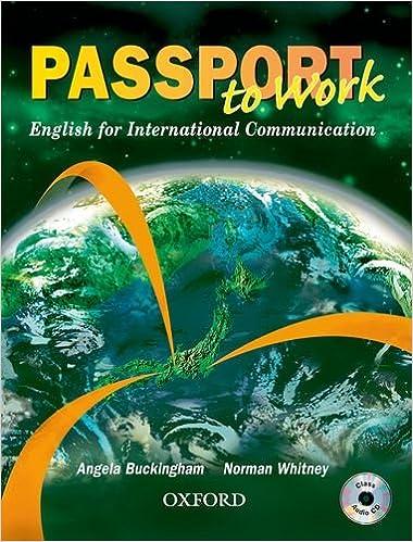 passport to work student book with cd angela buckingham norman