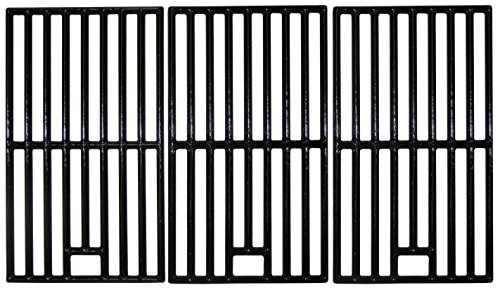 Music City Metals 66153 Gloss Cast Iron Cooking Grid Replacement for Gas Grill Cook SRGG31401 (Set of 3)