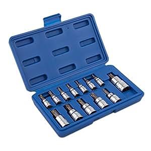 Neiko  10071A Torx Bit Socket Set, T8 - T60, S2 Steel | 13-Piece Set