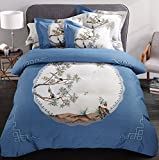 DHWM-Pure Cotton 4 piece set, Bed Twin full comforter sets, linens, extra thick wear wool bedding ,1.5m
