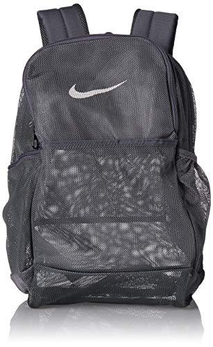 Nike Brasilia Mesh Backpack 9.0, Flint Grey/Flint Grey/White, Misc