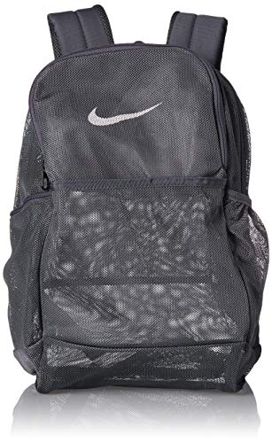 NIKE Brasilia Mesh Backpack 9.0, Flint Grey/Flint