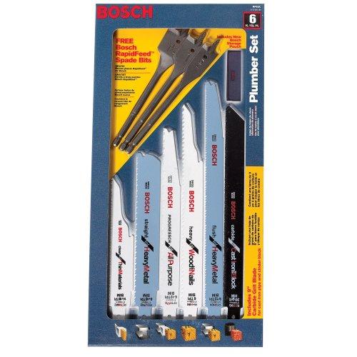 - Bosch RP6SC 6-Piece Reciprocating Saw Blade Plumber's Set