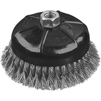 DEWALT DW49161 4-Inch by 5/8-Inch-11 XP .014 Stainless Knot Wire Cup Brush