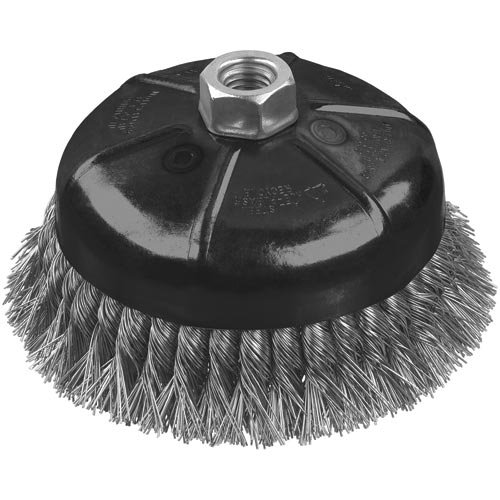 DEWALT DW49161 4-Inch by 5/8-Inch-11 XP .014 Stainless Knot Wire Cup Brush ()