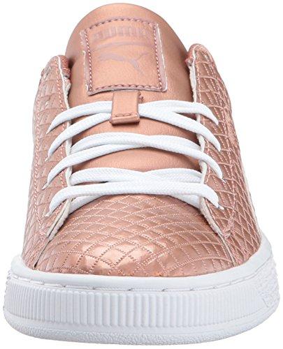 Pictures of PUMA Basket Met Emboss Kids Sneaker Copper 6