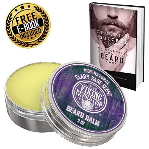 Best Deal Beard Balm with Clary Sage Scent and Argan & Jojoba Oils – Styles, Strengthens & Softens Beards & Mustaches – Leave in Conditioner Wax for Men by Viking Revolution …