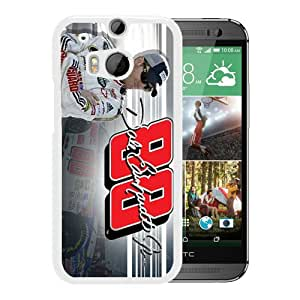 HTC ONE M8 Case,100% brand new Dale Earnhardt Jr 2 White Case For HTC ONE M8