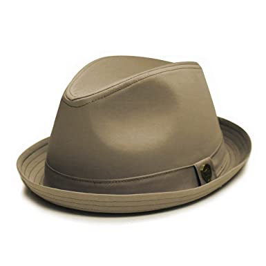City Hunter Pmt112 Cotton Plain Porkpie with Self Band Fedora (3 Colors)  (Small 30e72c85f31