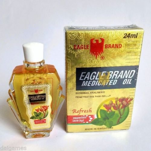 x6 Singapore Eagle Brand Medicated Oil 24ml peppermint clove bud pain - Brands Singapore