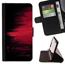 For Samsung Galaxy Note 4 IV,S-type chernyy fon kraska polosy pyatno - Drawing PU Leather Wallet Style Pouch Protective Skin Case