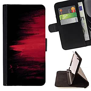 DEVIL CASE - FOR Sony Xperia Z1 L39 - chernyy fon kraska polosy pyatno - Style PU Leather Case Wallet Flip Stand Flap Closure Cover