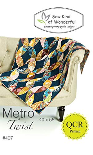 Metro Twist Quilt Pattern: A Contemporary Quilt Design Pattern Using the Quick Curve Ruler by Sew Kind of Wonderful by Sew Kind of Wonderful