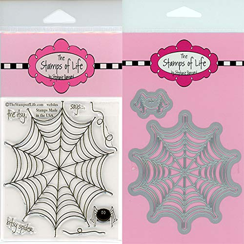Spider-Web Halloween Stamps and Dies for Scrapbooking and Card-Making by The Stamps of Life - Web4Us and Web Die-Cuts ()