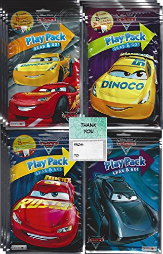 Disney Cars 3 Grab n Go Play Packs Bundle (12 Pack) Party Favors and 12