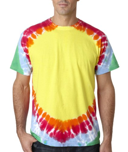 - Gildan Tie-Dyes Adult Teardrop Rainbow Tee, Style #74, 2XL, Tear Drop Rainbow