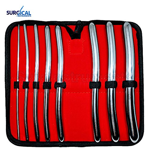 8 Hegar Dilator Sounds Set 7.5'' Double Ended Gynecology Instrument by SurgicalOnline
