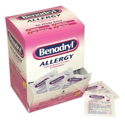 Case Pack - Benadryl, 12 Boxes of 60 Doses of 2 Tablets (720 total doses) by PhysiciansCare