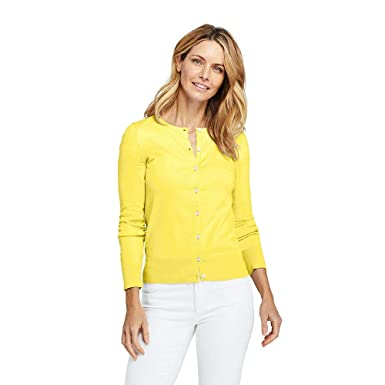 dcd5f456a284 Image Unavailable. Image not available for. Color: Lands' End Women's Tall Supima  Cotton Cardigan Sweater ...
