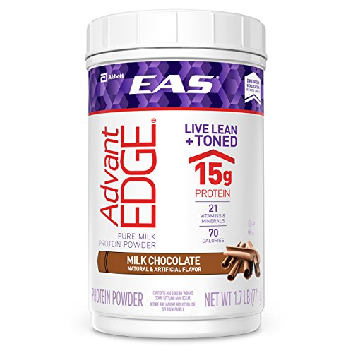 EAS AdvantEDGE Pure Milk Protein Powder, Milk Chocolate, 1.7lb (Formerly EAS Lean 15) (Packaging May Vary) (Eas Sports Nutrition)
