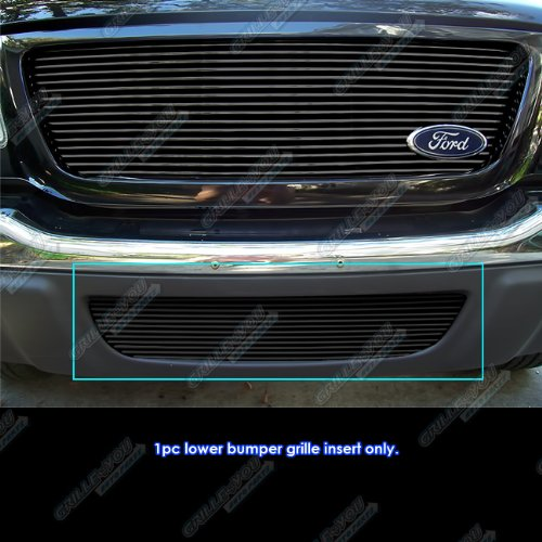 APS Fits 01-03 Ford Ranger 2WD Lower Bumper Black Billet Grille Grill Insert #N19-H53458F