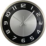 "Timekeeper Products LLC, 300RAB, Round 11.5"" Clock Metal Silver Black Accents, 1"