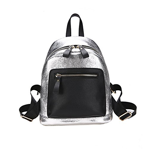 Meaeo Bright Gold Versatile Bread Hit Backpack Pu New Color Silver Fashion RwR4T