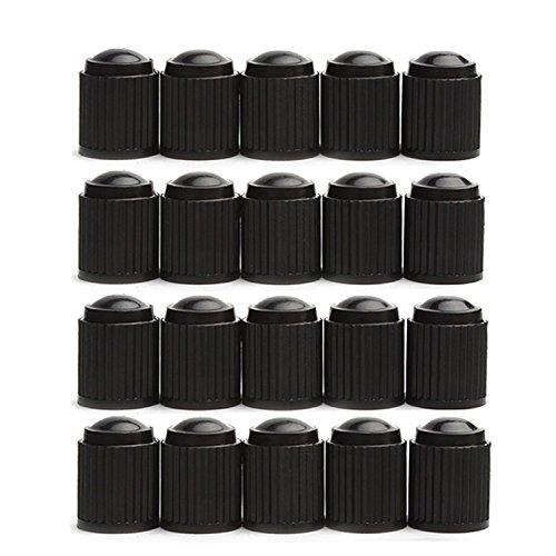 Godeson 20 Pack Black Plastic Tire Valve Stem Caps (Cap Valve Stem Plastic Tire)