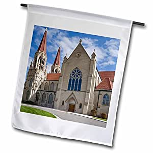 Danita Delimont - Cathedrals - Montana, Helena. Saint-Helena Cathedral - US27 BJA0052 - Jaynes Gallery - 12 x 18 inch Garden Flag (fl_91613_1)