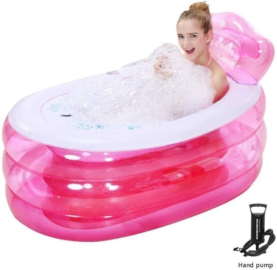 Piscinas hinchables infantiles Bomba de mano + piscina inflable bañeras bañera inflable Spa Bañera de hidromasaje plegable Espesar Adulto de hidromasaje baño de la playa del barril de PVC for la Infan