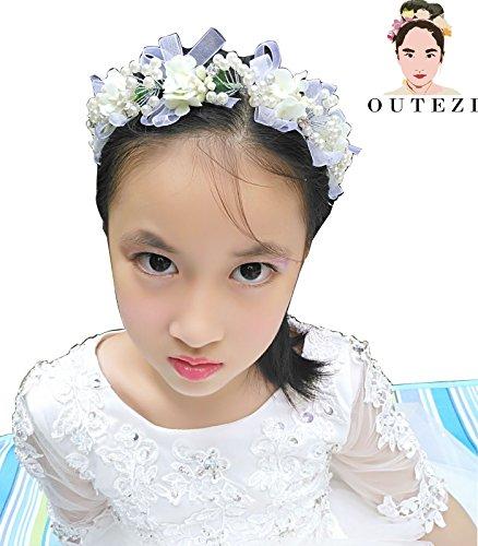 Flower Crown Headband/Flower Crown Headband/Flower Headband Wedding/Baby Girl Headband/Girl Headband Baby/Toddler Headband/Baby Romper (pearl)