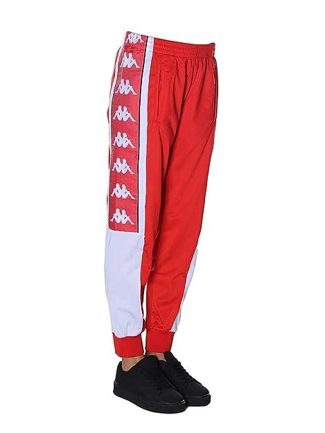 X Rouge White Femme Pantalon Kappa Flame Red Small BU4Ywgq