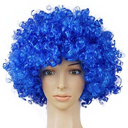 light blue afro wig - 4