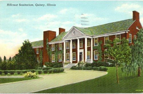 1940s-vintage-postcard-hillcrest-sanitarium-quincy-illinois