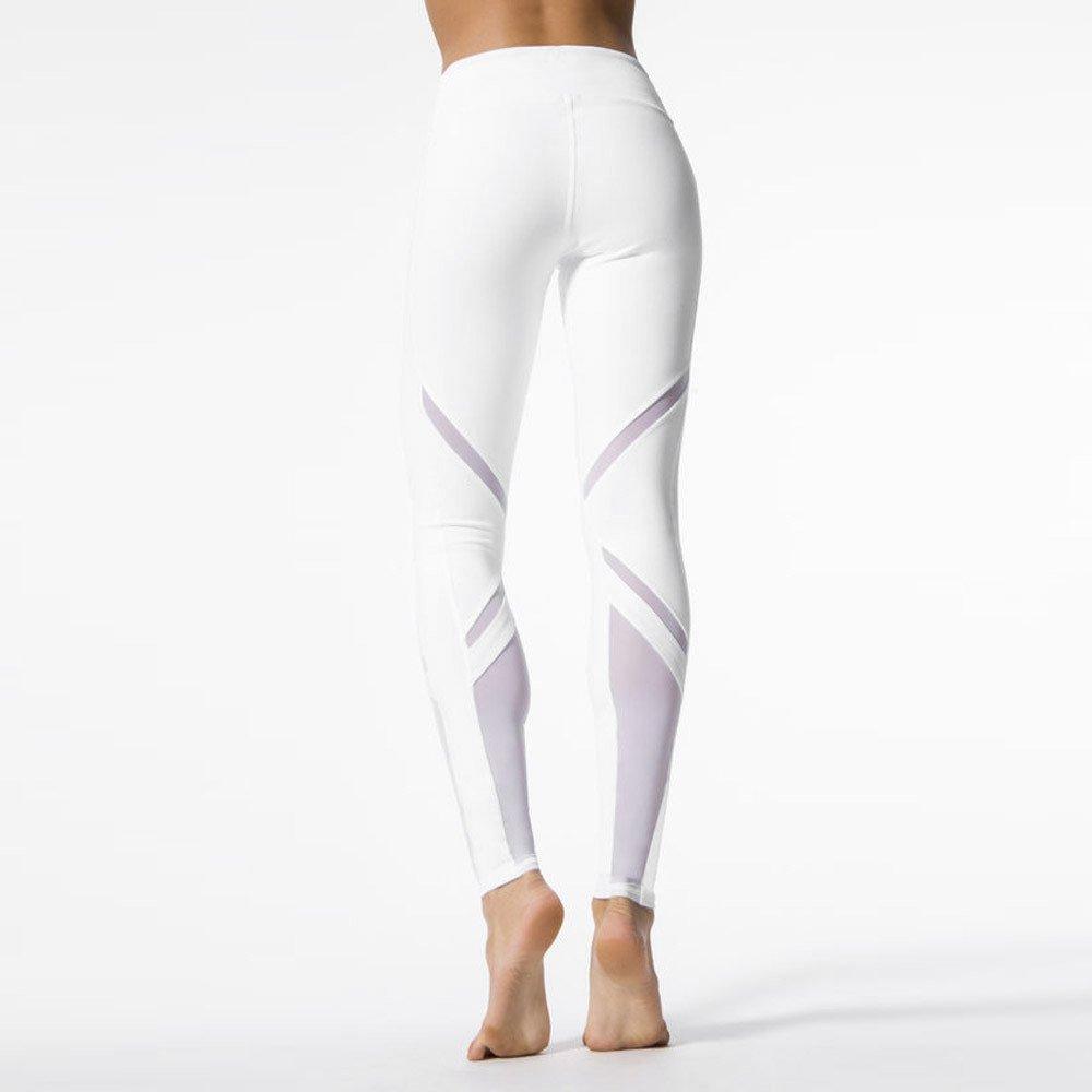Fabal Womens Yoga Pants Running Tights Women Mallas Mujer Deportivas Stitching Net Yarn Sport Pan