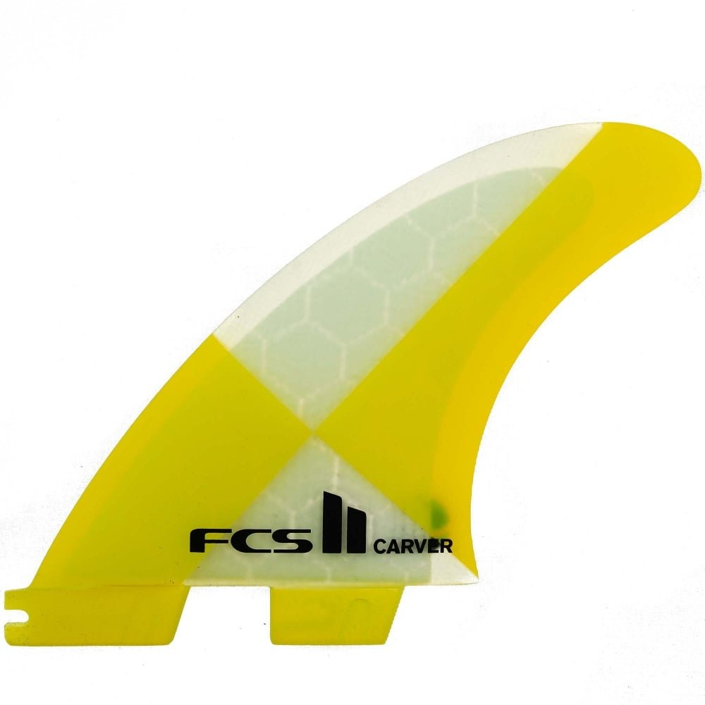 FCS II Carver PC Tri Fin Set – Largeイエロー B07F39L9HY