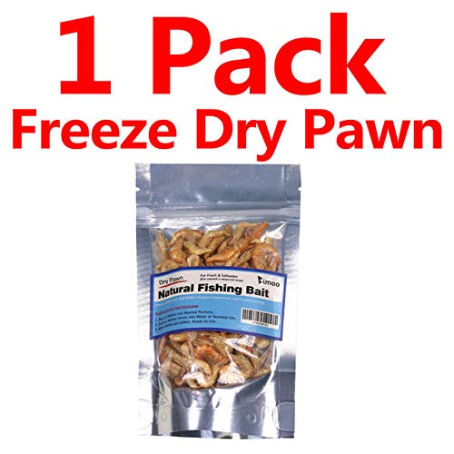 - Jammas 1 Bag Freeze Dried Pawn Freshwater for Fishing Shrimps for Saltwater Sardine Makerel Carp Fish Bait Pet Fish - (Color: 1 pack)