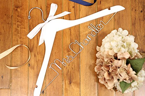 Bridal Hanger, Wedding Hangers, Personalized Bride Hanger, Unique Hanger, Mrs Hanger, Custom Hanger