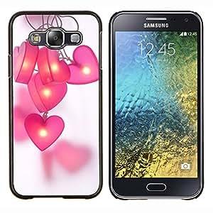 LECELL--Funda protectora / Cubierta / Piel For Samsung Galaxy E5 E500 -- pink polígono gris modelo negro púrpura --