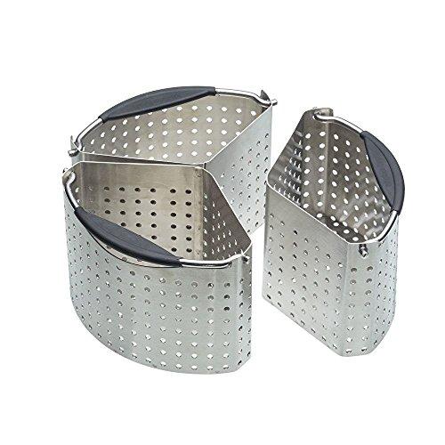Masterclass Stainless Steel Saucepan Divider Baskets, Metallic, 20 Cm, Set Of 3