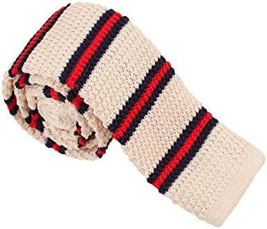 Mens Striped Skinny Knitted Neck Tie in Various Colours