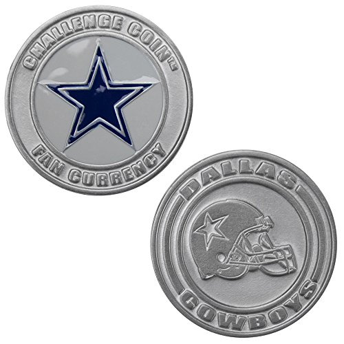 Dallas Cowboys Challenge Coin Poker Card Cover - Comes with Free Cut Card! (DALLAS) Nfl Protector