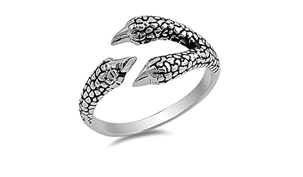 HCJ SILVER STAINLESS STEEL CIRCLE DESIGN WIDE BAND FASHION RING SIZE 9